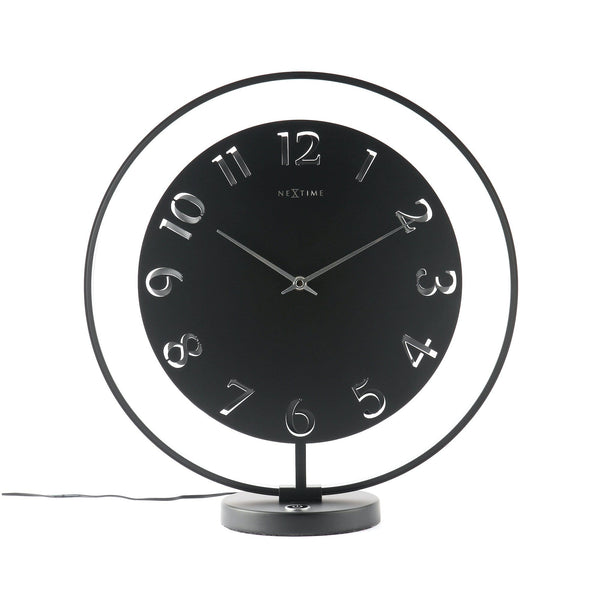 Front Picture 5188ZW,Ting,Table clock,Silent,Metal,Black