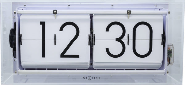 Front Picture 5209TR,Big Flip Clear,Table/ Wall clock,Other,Acrylic,Transparent
