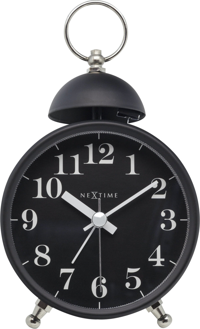Front Picture 5213ZW,Single Bell,Alarm clock,Silent,Metal,Black,