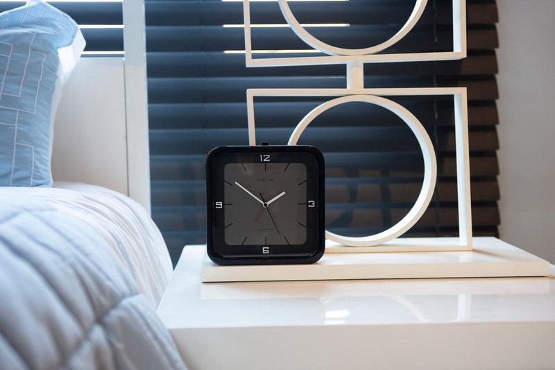 atmosphere 5221ZW,Square Alarm,NeXtime,Wood,Black