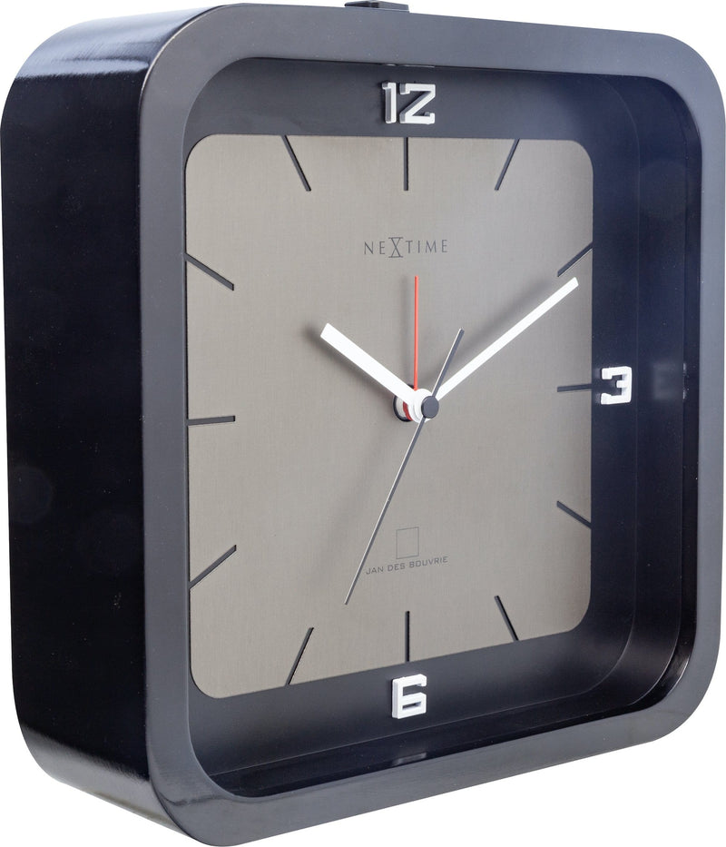 leftside 5221ZW,Square Alarm,NeXtime,Wood,Black