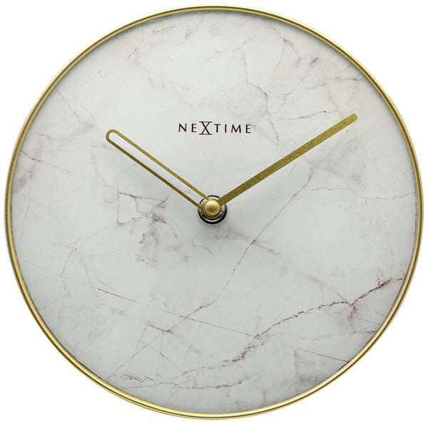 Front Picture 5222WI,Marble Table,Wall clock,Glass,White