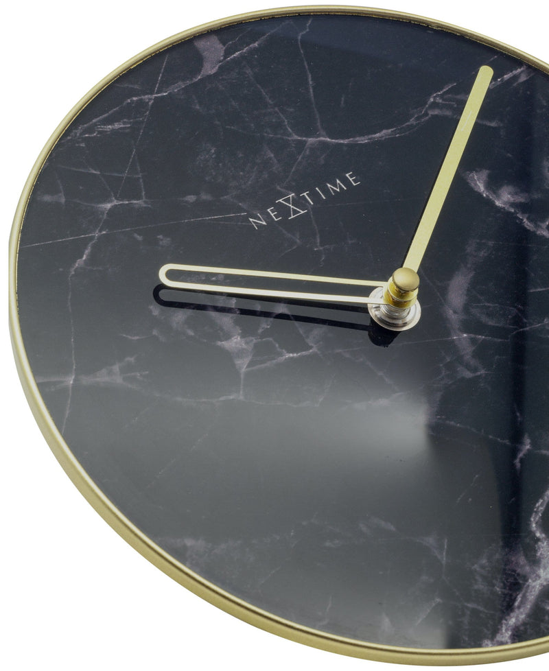 detail 5222ZW,Marble Table,NeXtime,Glass,Black