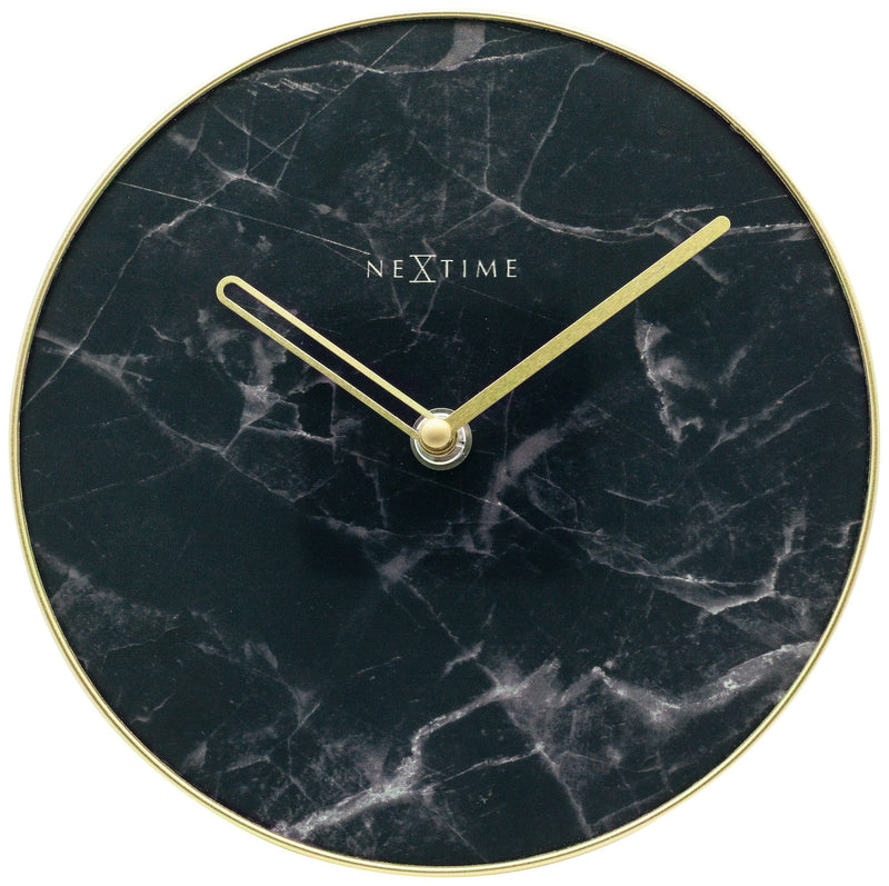 Front Picture 5222ZW,Marble Table,Wall clock,Glass,Black