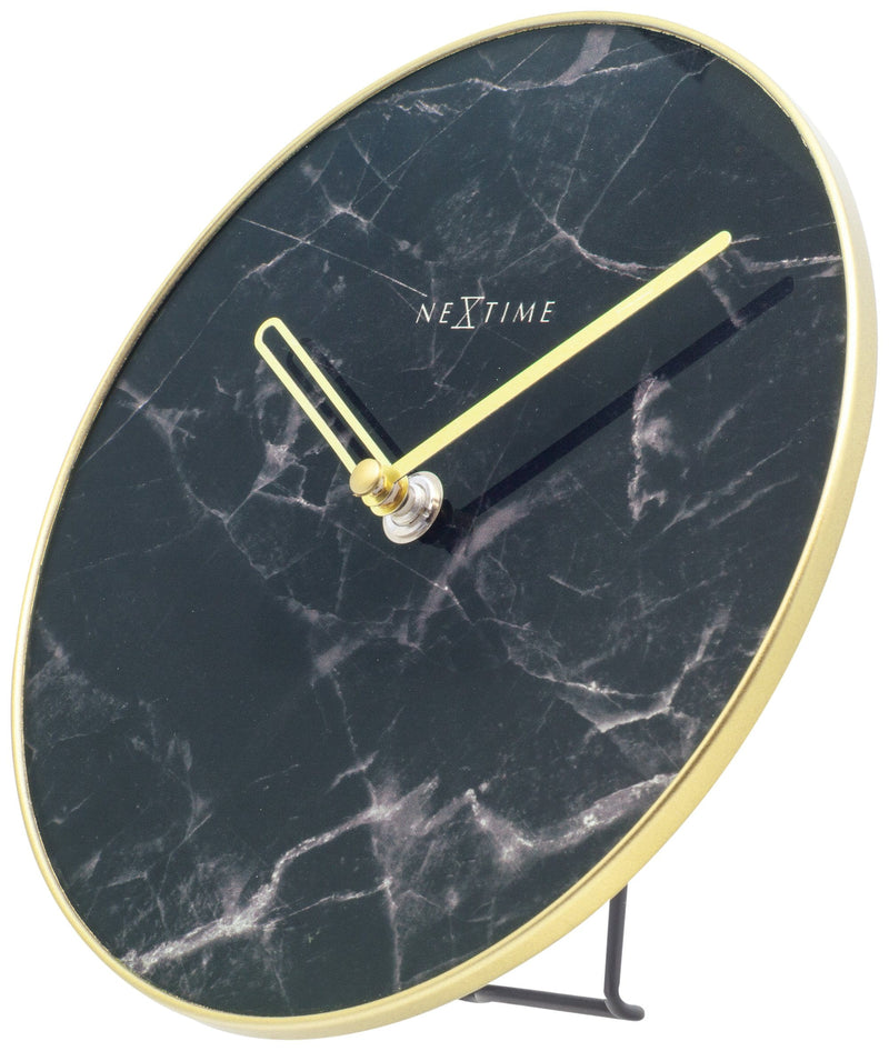 rightside 5222ZW,Marble Table,NeXtime,Glass,Black