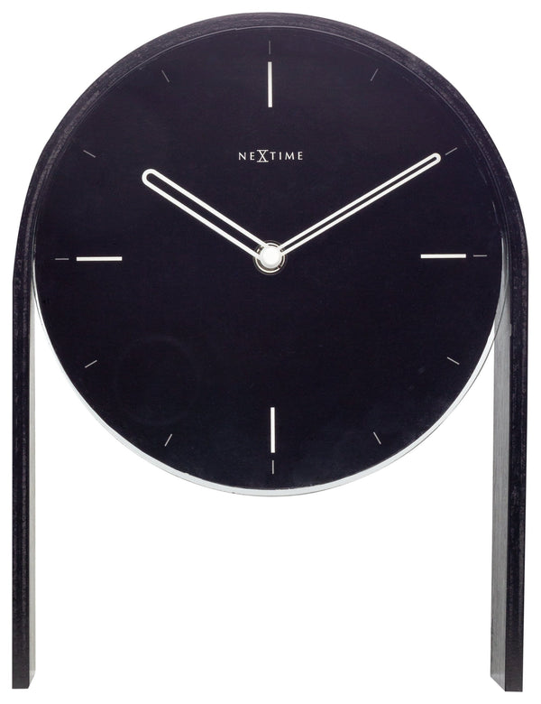 Front Picture 5225ZW,Noa Table,Wall clock,Wood,Black