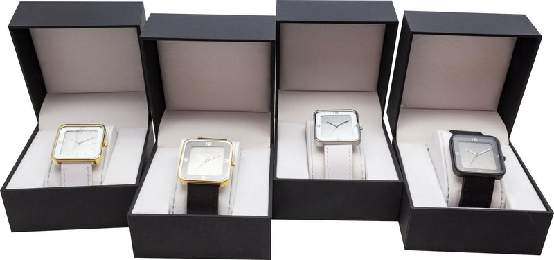 family 6021GW,Square Wrist,NeXtime,Stainless Steel,White/Gold