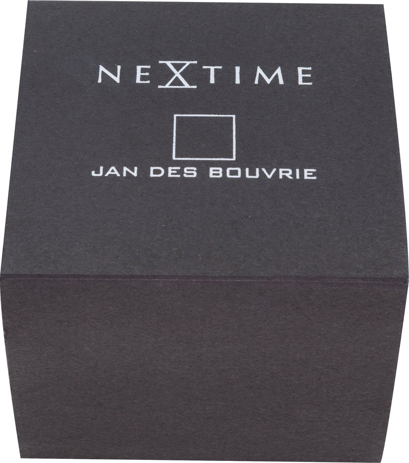 packaging 6021GW,Square Wrist,NeXtime,Stainless Steel,White/Gold