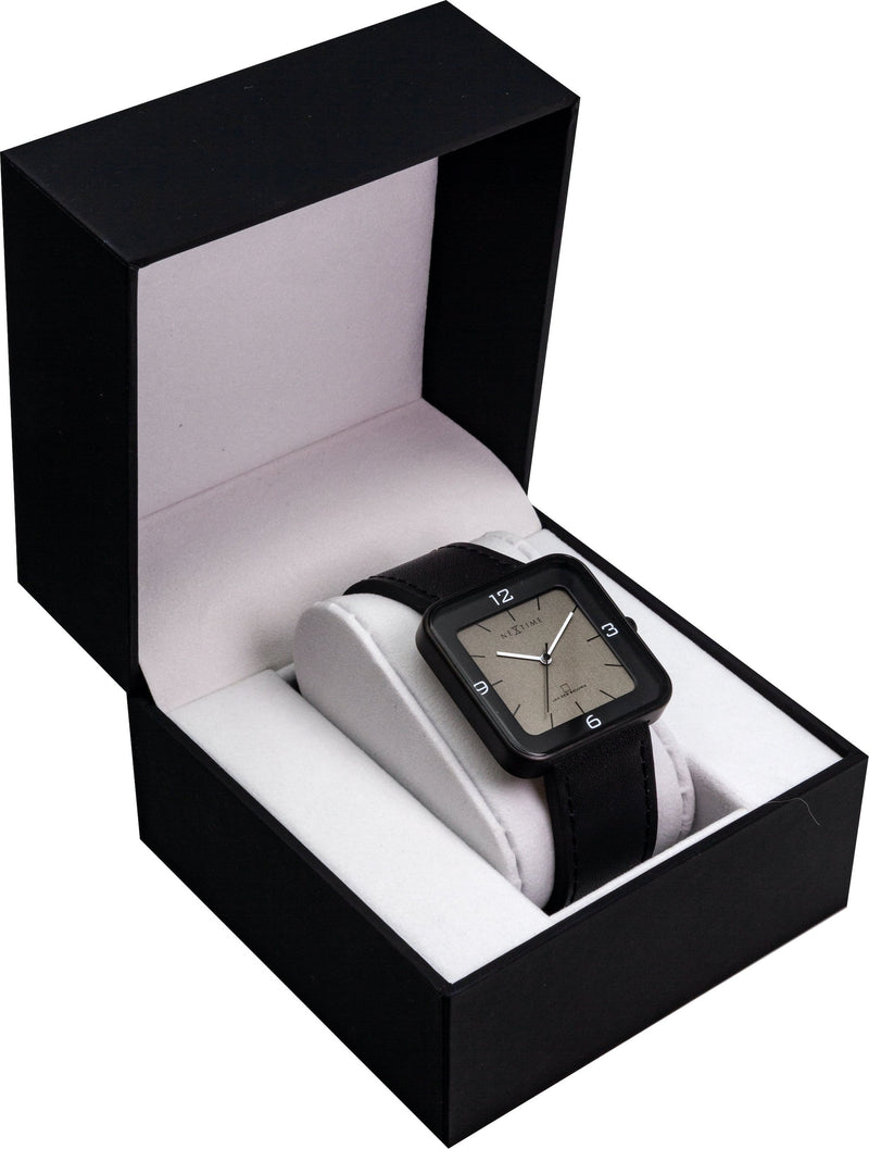 packaging 6021ZW,Square Wrist,NeXtime,Stainless Steel,Black