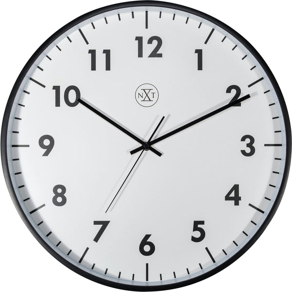 Front Picture 7317-V2,New,Wall Clock,Silent,Plastic,Black