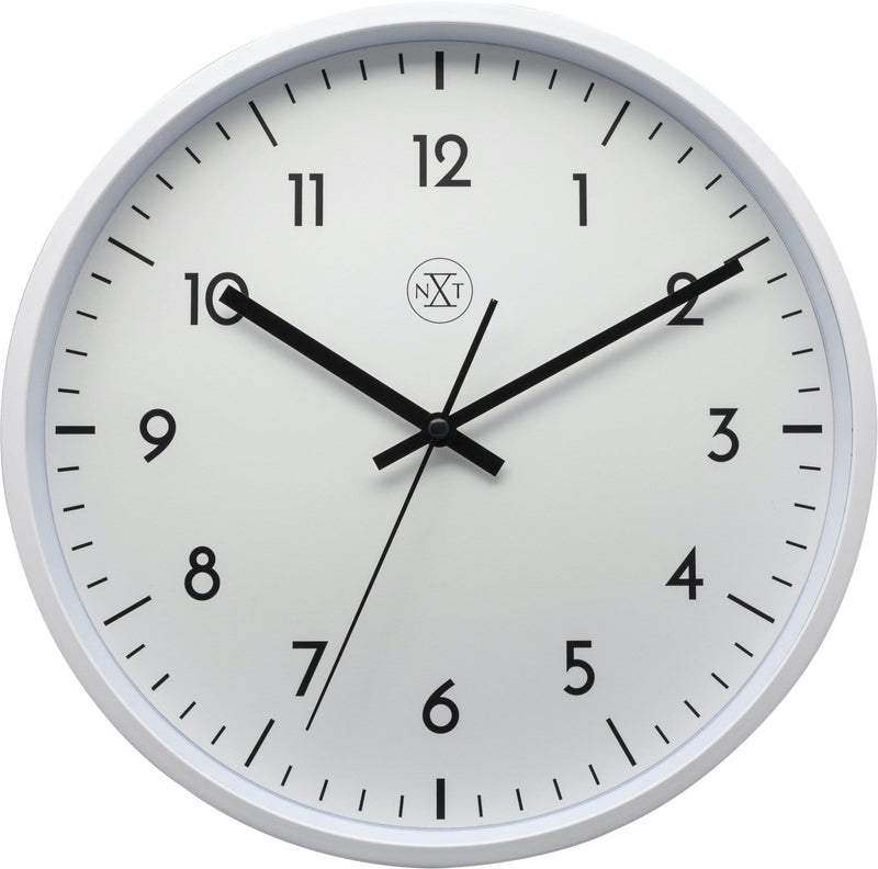 Front Picture 7320,Easy Big,Wall clock,Step,Plastic,White