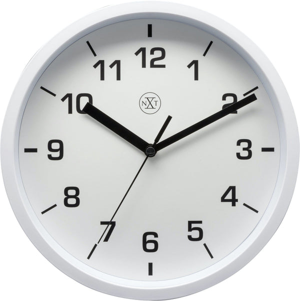 Front Picture 7321WI,Easy Small,Wall Clock,Step,Plastic,White,#color_white