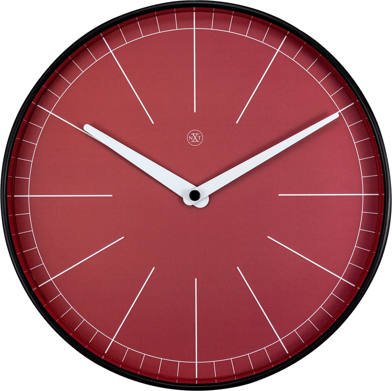 Front Picture 7323,Axel,Wall Clock,Step,Plastic,Red
