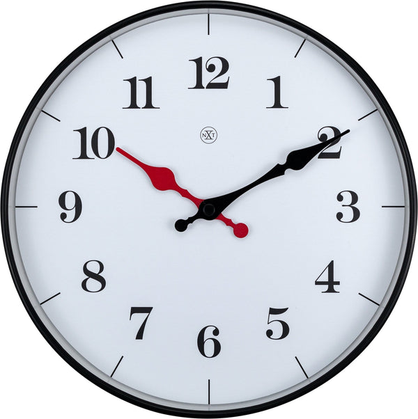 Front Picture 7326,Bernard,Wall Clock,Step,Plastic,White