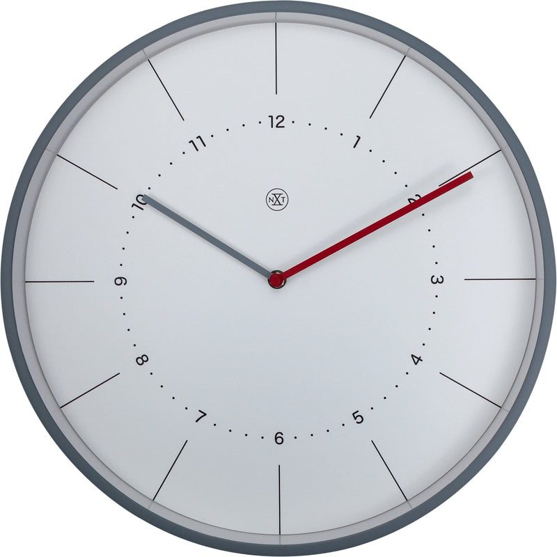 Front Picture 7327,Chester,Wall Clock,Step,Plastic,White