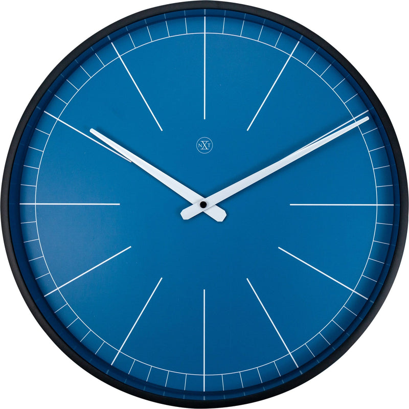Front Picture 7328BL,Ethan,Wall Clock,Step,Plastic,Blue,