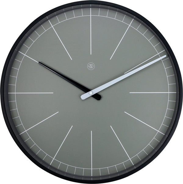 Front Picture 7328GS,Gray,Wall Clock,Step,Plastic,Grey,#color_grey