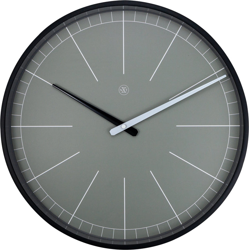 Front Picture 7328GS,Gray,Wall Clock,Step,Plastic,Grey,