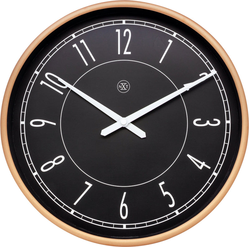 Front Picture 7331,Jason,Wall Clock,Step,Plastic,Rose Gold