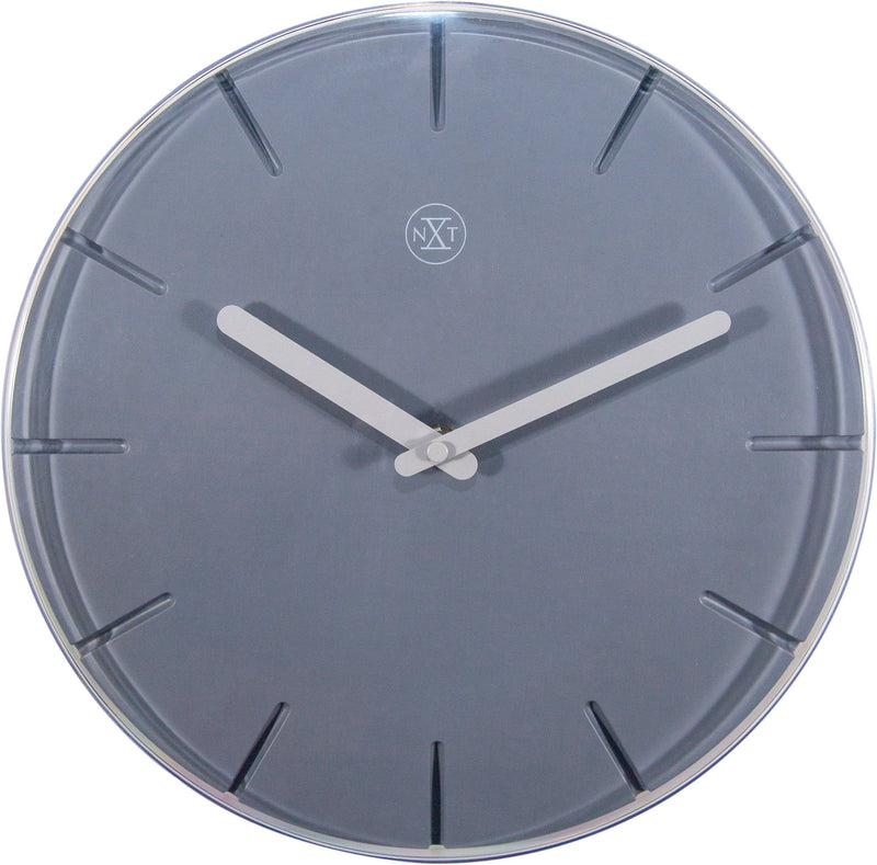 Front Picture 7341GS,Sweet,Wall Clock,Step,Plastic,Grey,