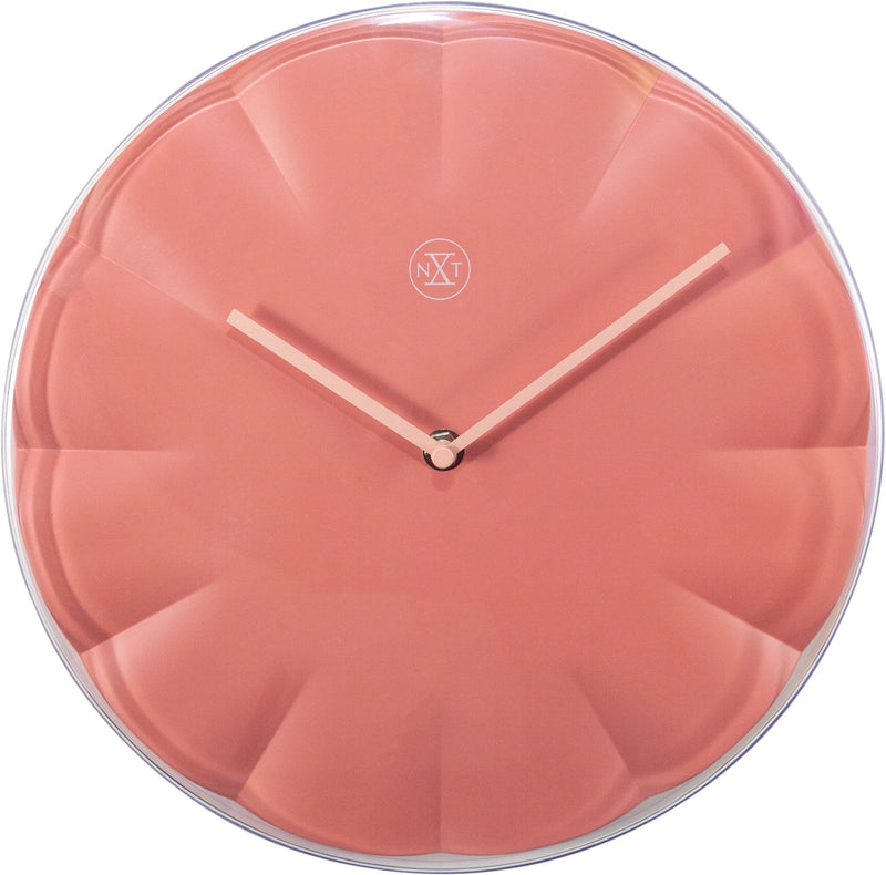 Front Picture 7341RZ,Sweet,Wall Clock,Step,Plastic,Red,
