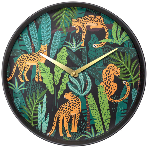 Front Picture 7355, Urban Jungle,Wall clock,Plastic,Black