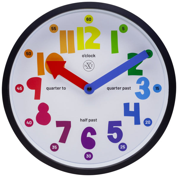 Front Picture 7357,Sophia,Wall clock,Plastic,Blue