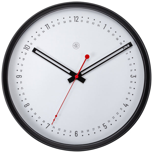 Front Picture 7358,Sweden,Wall clock,Plastic,Black