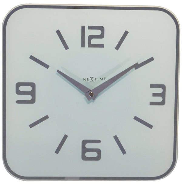 Front Picture 8149WI,Shoko,Wall clock,Silent,Glass,White,#color_white