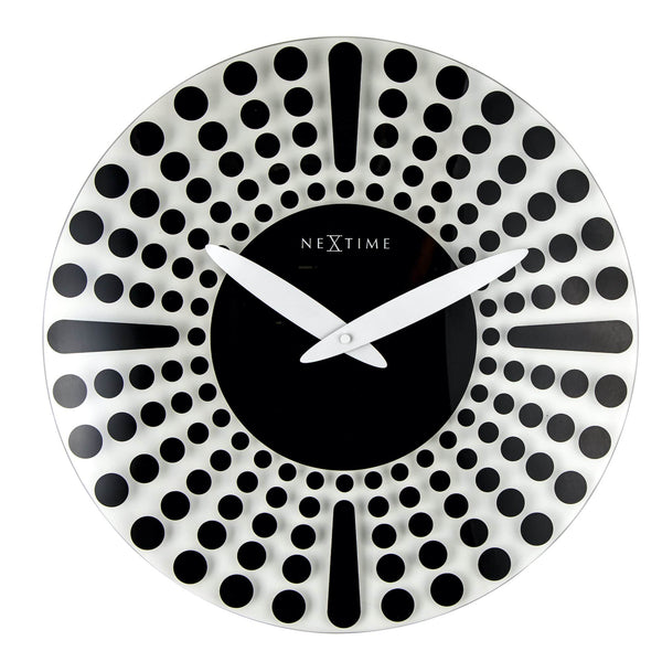 Front Picture 8182ZW,Dreamtime,Wall clock,Silent,Glass,Black