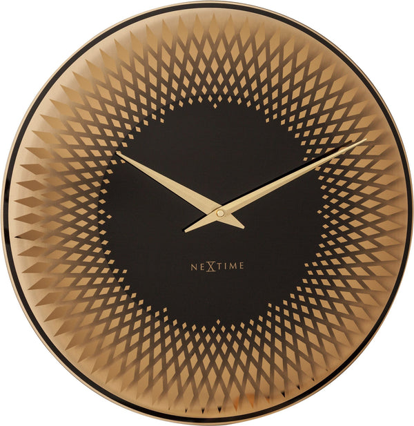 Front Picture 8186CO,Sahara,Wall clock,Silent,Glass,Copper