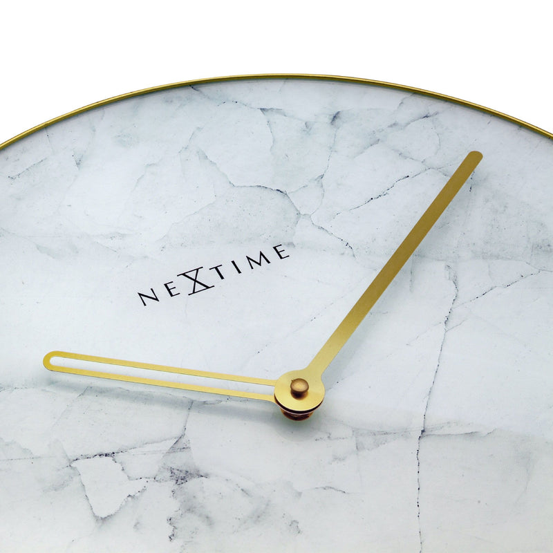 detail 8189WI,Marble,NeXtime,Glass,White/Gold
