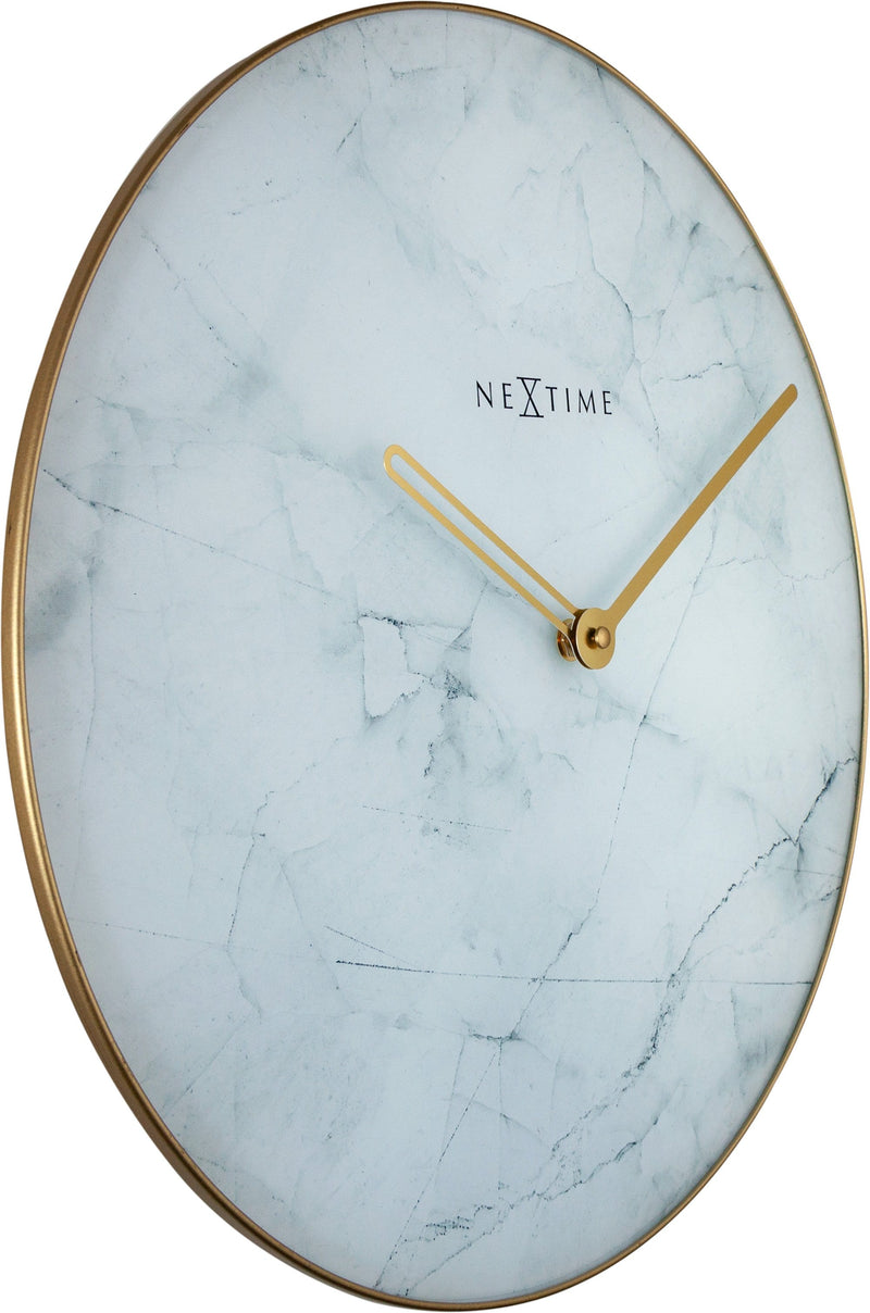 leftside 8189WI,Marble,NeXtime,Glass,White/Gold