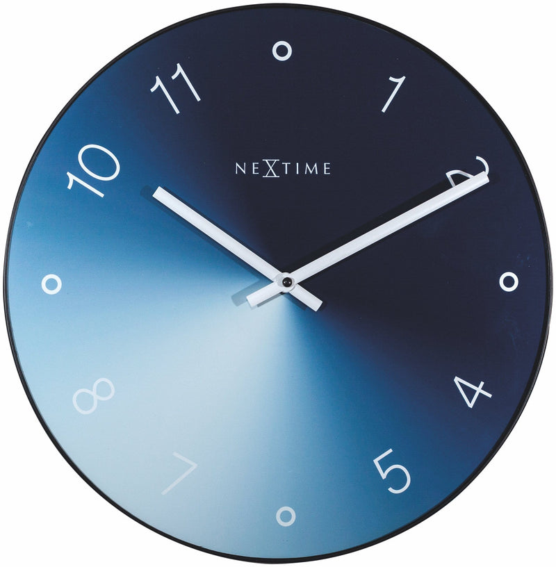 Front Picture 8194BL,Gradient,Wall clock,Silent,Glass,Blue