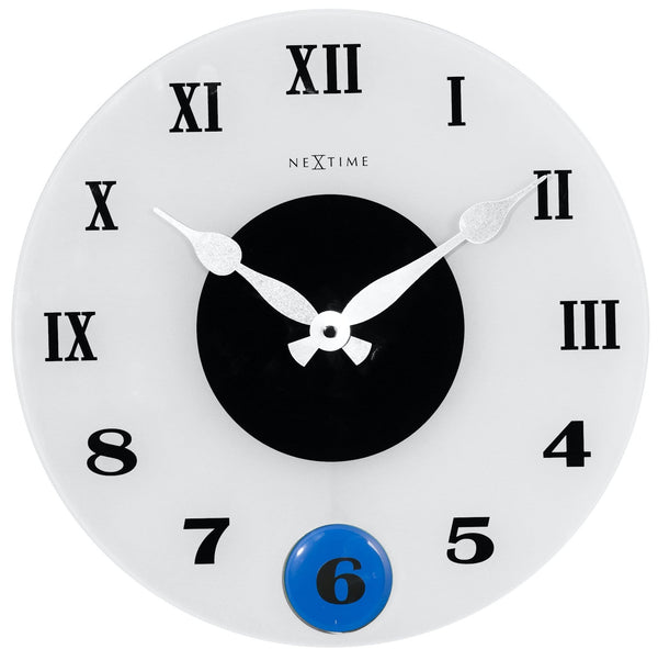 Front Picture 8635,Milano Color,Wall clock,Pendulum,Glass,Frosted