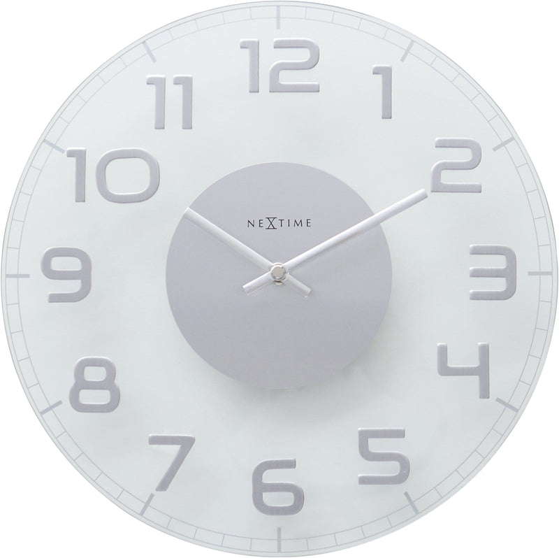 Front Picture 8817TR,Classy Round,Wall clock,Silent,Glass,