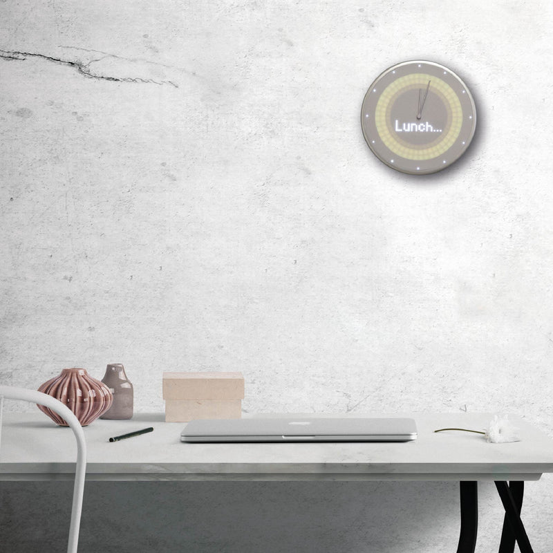 Smart Wall Clock - Glance Clock - Silver Grey