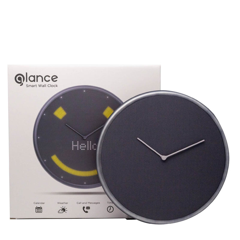 Smart Wall clock - Glance Clock - Graphite