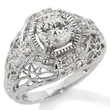 Sterling Silver Xavier Belle Epoque Sparkling Cubic Zirconia Ring - Silver Insanity