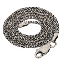 "Sterling Silver Antiqued Popcorn Chain Necklace 14"" - 36"" - Silver Insanity"