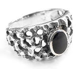 Sterling Silver Ancient Style Black Onyx Ring