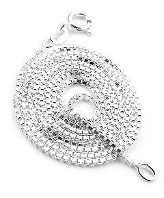 "Childs Sterling Silver 14"" Inch Box Link Chain Necklace - Silver Insanity"