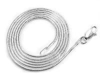 1mm Nickel Free Sterling Silver Italian Snake Chain Necklace - Silver Insanity