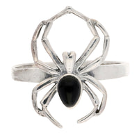 Black Widow Spider Sterling Silver Ring - Silver Insanity