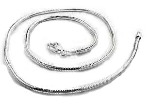 Heavy 3mm Sterling Silver Snake Chain Necklace - Silver Insanity