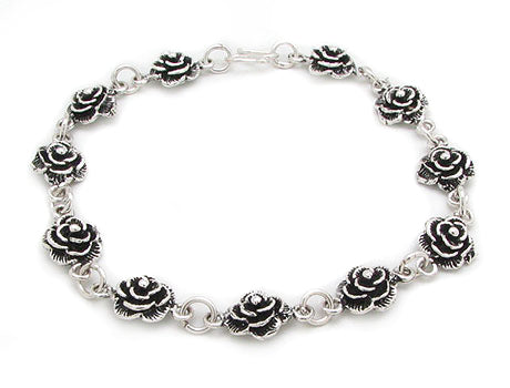 Sterling Silver Wild Roses 7.25
