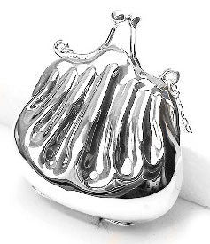 Coin Purse Sterling Silver Bag Locket Pendant Jewelry - Silver Insanity