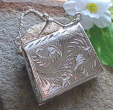 Sterling Silver Coin Purse Bag Handbag Locket Pendant - Silver Insanity