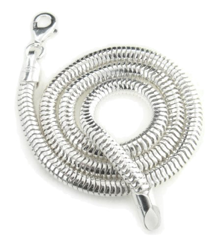 Thick 5mm Sterling Silver Snake Chain Necklace - Silver Insanity