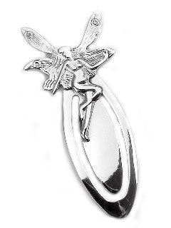 Large Sterling Silver Fairy / Faery Bookmark - Gift for Booklovers - Silver Insanity
